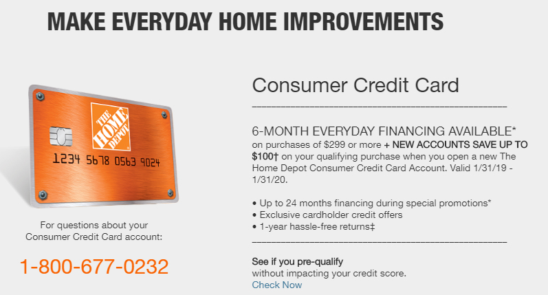 Home Depot Credit Card Discount 2020 Save Up To 100 On Furniture Appliances Storage More