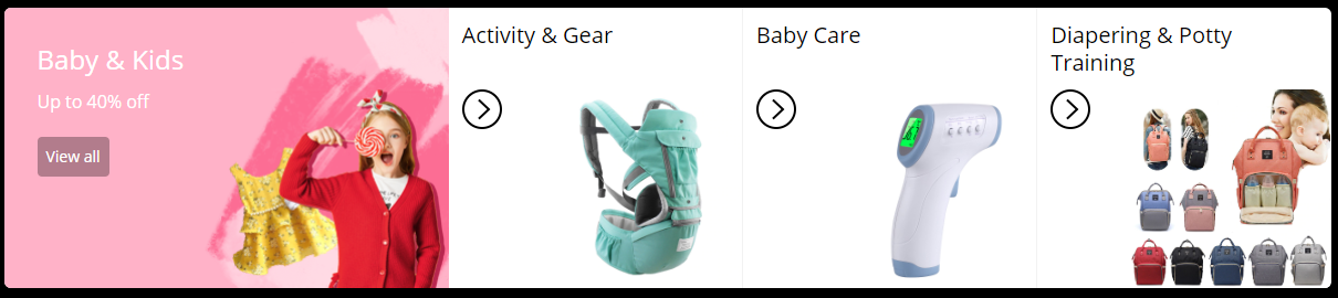 Kids and Baby Products under Aliexpress Black Friday Sale
