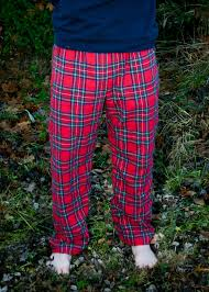 Patterned Flannel Pajama Pants