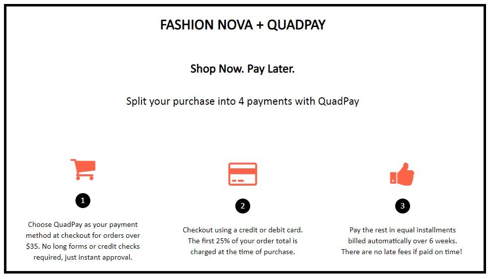Fashion Nova QuadPay