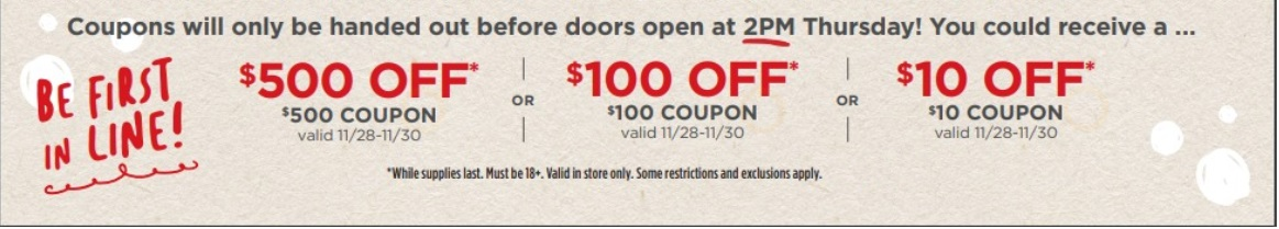 JC Penney be first in line coupon